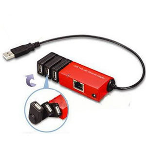 Ethernet on Usb To Ethernet Adapter With 3 Port Hub  H205    China Usb To Ethernet