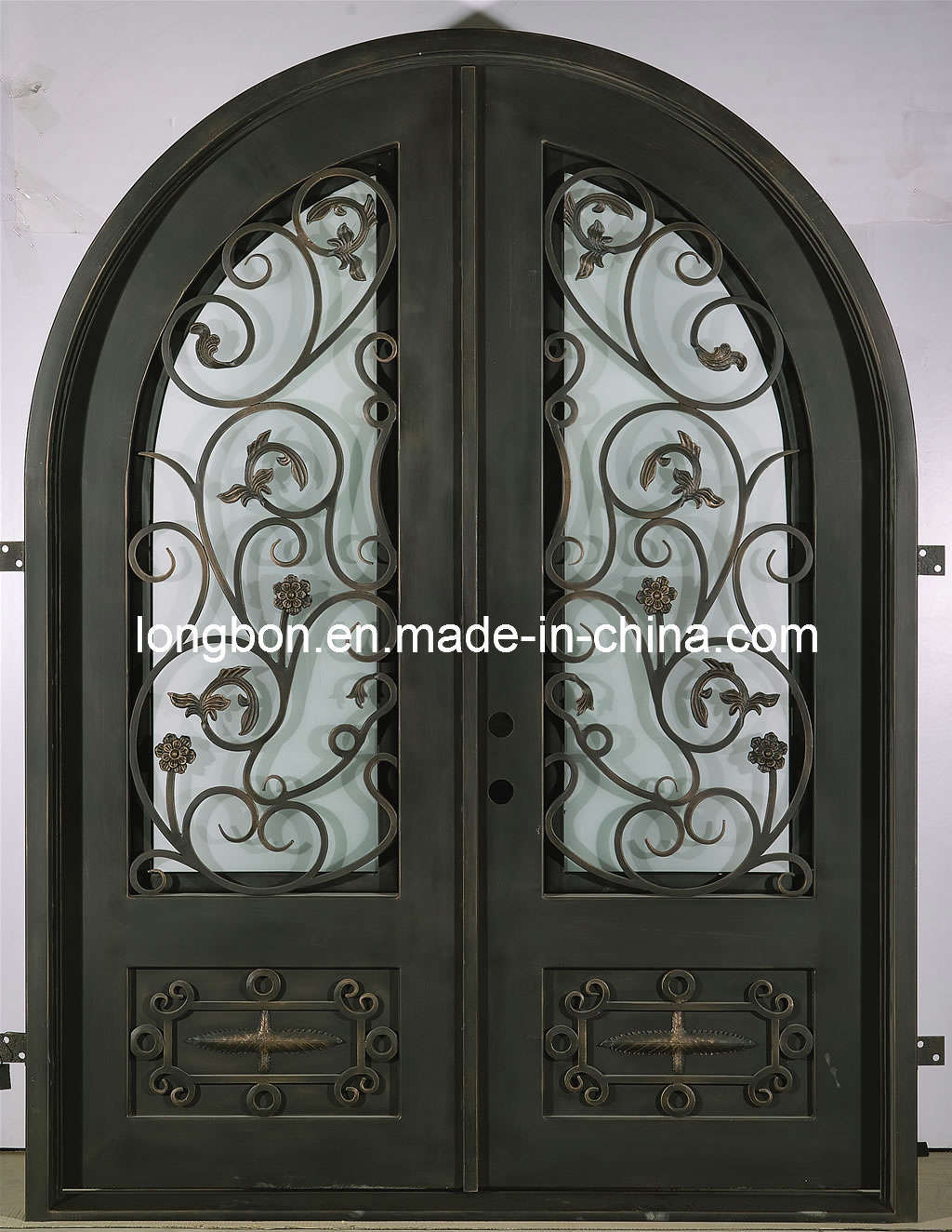 1324 #595145 Security Doors: Wrought Iron Security Door pic Wood Wrought Iron Doors 43111024