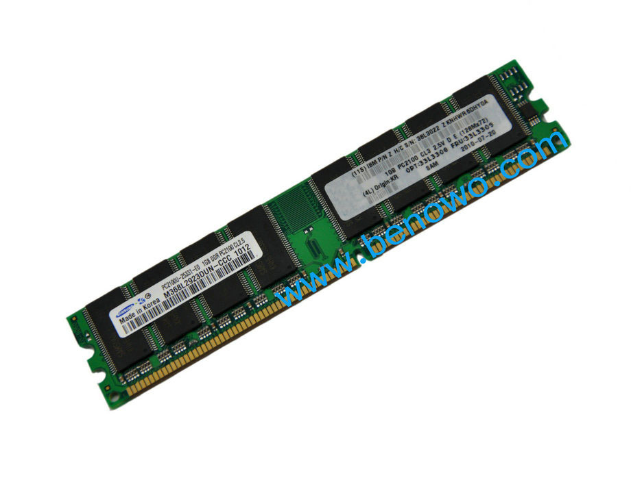 China 1x1gb Pc2100 Ecc Ddr Ram Memory Server Memory For