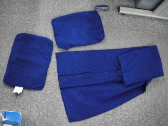 Polar Fleece Solid Color Travel Blanket