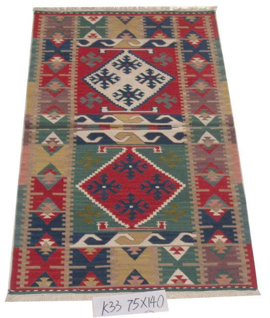 Vintage Turkish Flat Weave Rug: China Antique Flat Weave Turkish Kilim Rugs (turkish Rugs