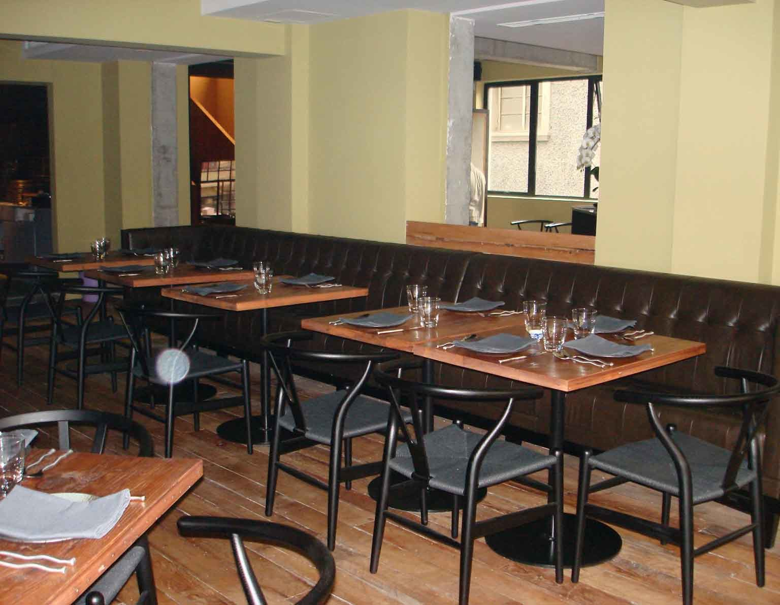 Dining table restaurant dining tables for Restaurant table menu
