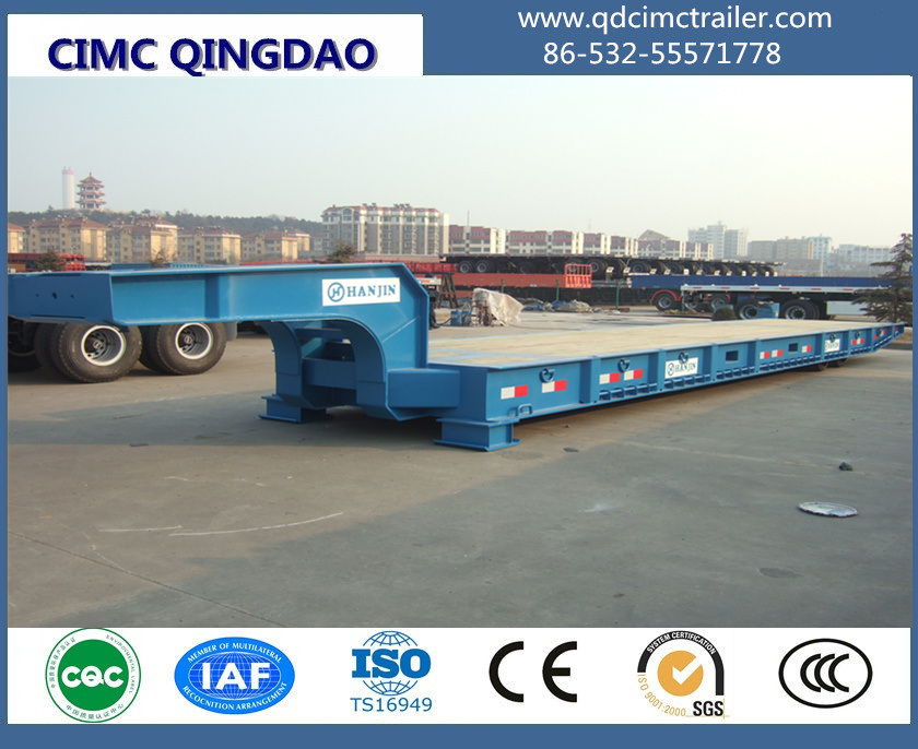 120 Ton Goosenec Flatbed Containerk Mafi Roll Roll Trailer
