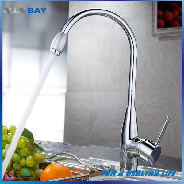 Chrome Hot/Cold Single Lever Kitchen Sink Water Tap
