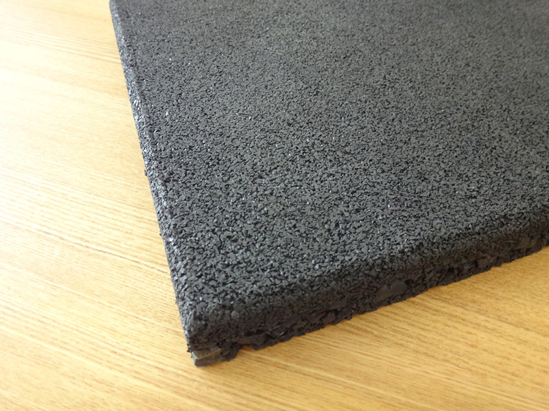 Gym Rubber Mat 25m, 45mm for Crossfit, 1m X 1m