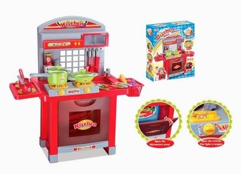 Electronic kids kitchen play set cooking toys china for Electronic kitchen set