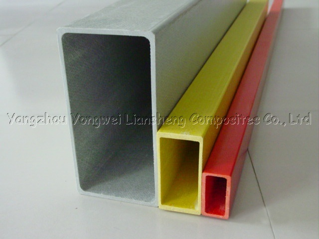 Fiberglass rectangular tubes china frp