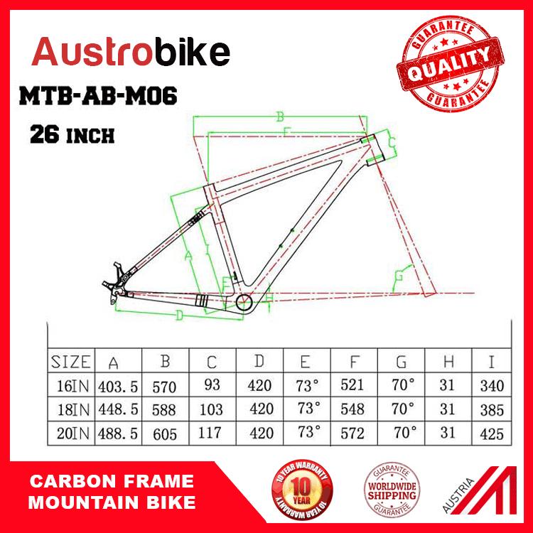 "Carbon Fiber Mountain Bike Frame 650b 26"""