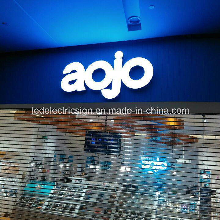 Stainless Steel LED Letters with Acrylic for Shop Front Name Advertising Sign