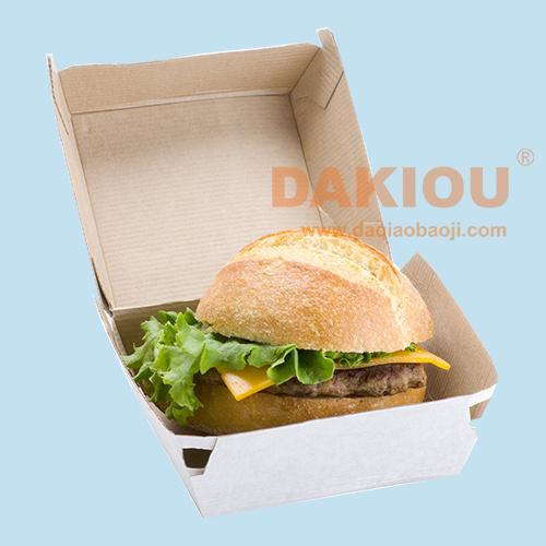 New Type of Hamburger Packaging Box Machinery