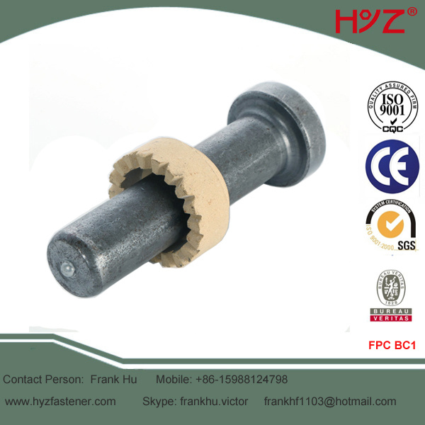 En ISO13918 Shear Connector with Ceramic Ferrule