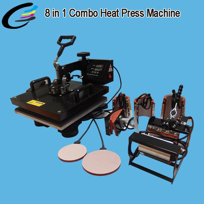 Printing Machine 8 in 1 Combo Sublimation Heat Press Machine