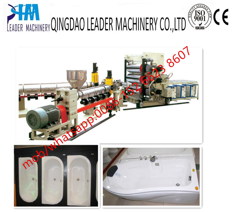 ABS PMMA Bathtub Sanitary Sheet/Board Extrusion Line
