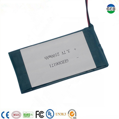 CE/UL Approved 3.7V 2100mAh Deep Cycle Phone Battery