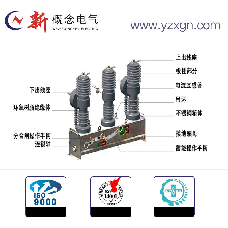 Distribution System Automatic Spring Strut Circuit Breaker