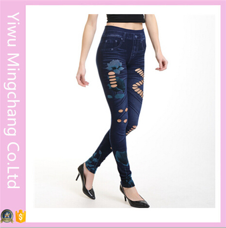 2016 Wholesale New Designed Hollow Seamless Sexy Cotton Jeans Tights