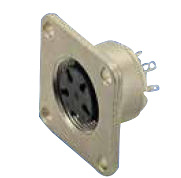 M16 Female Receptacle with Flange Mounting
