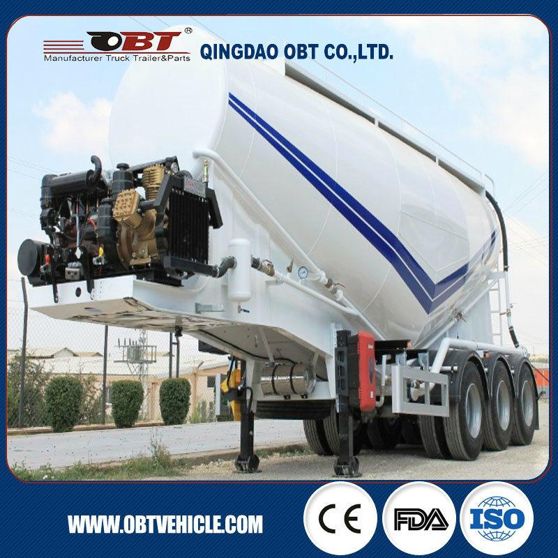 Tri-Axle 60 Cbm 50ton Bulk Cement Power Material Cargo Tanker Transport Semi Trailer