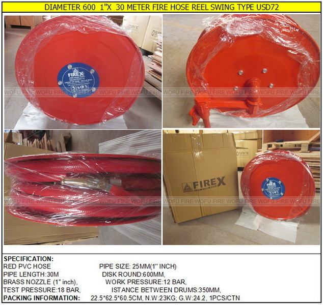 "3/4"" Swing Type PVC Fire Hose Reel"