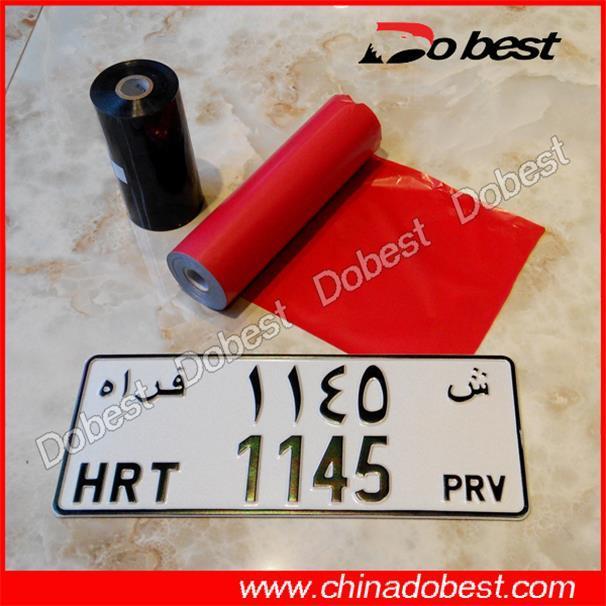 Heat Transfer Film for License Plate
