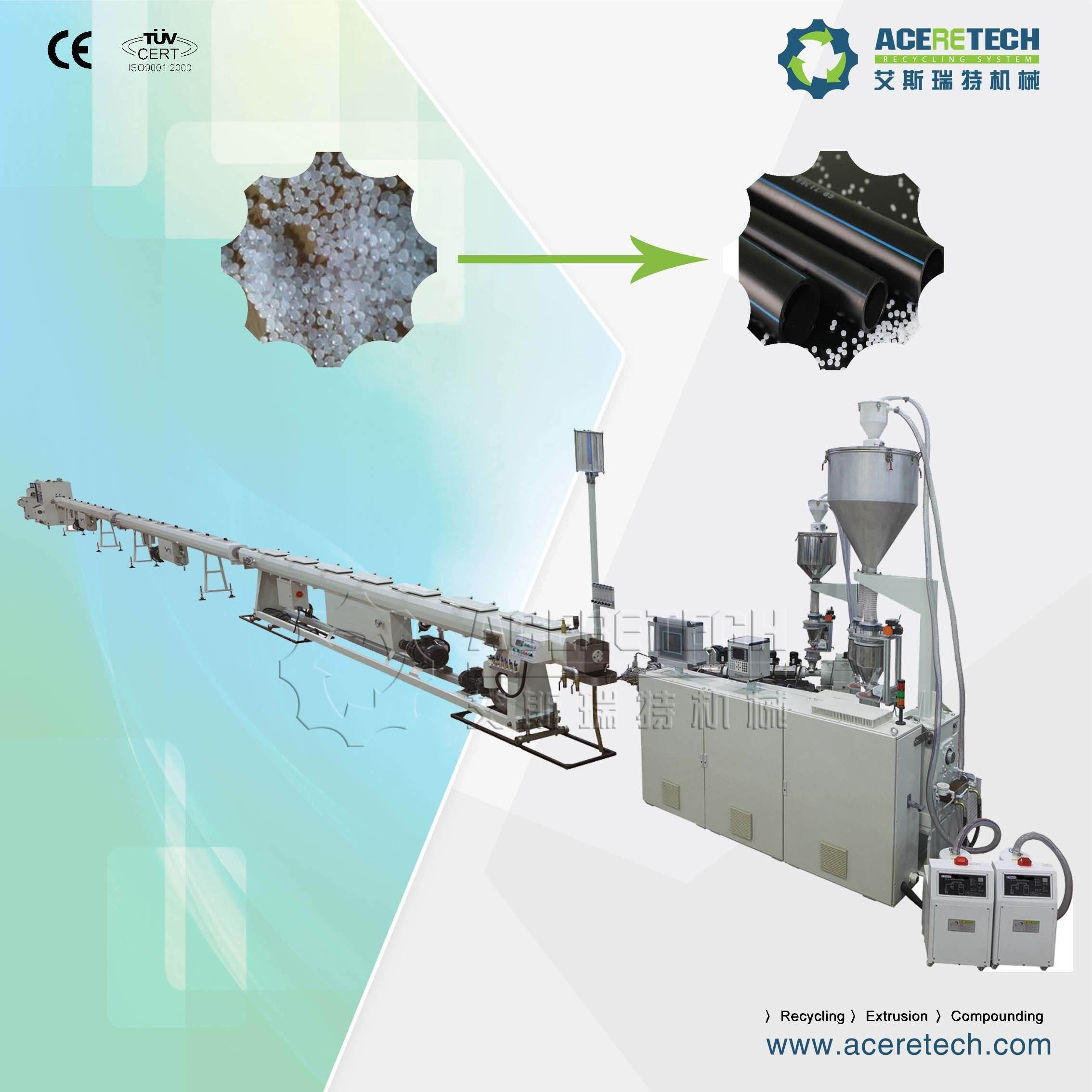 HDPE/PP/LDPE/PPR/Pert/PVC/PE Pipe Extrusion Machine for Sale