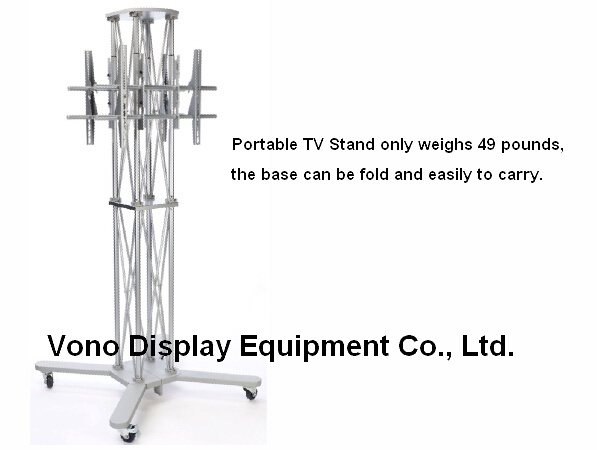 Exhibition Truss TV Stand Display with Two Plasma or LCD Television Stand