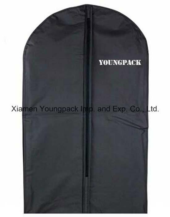 Custom Black Plastic PEVA Suit Garment Bag