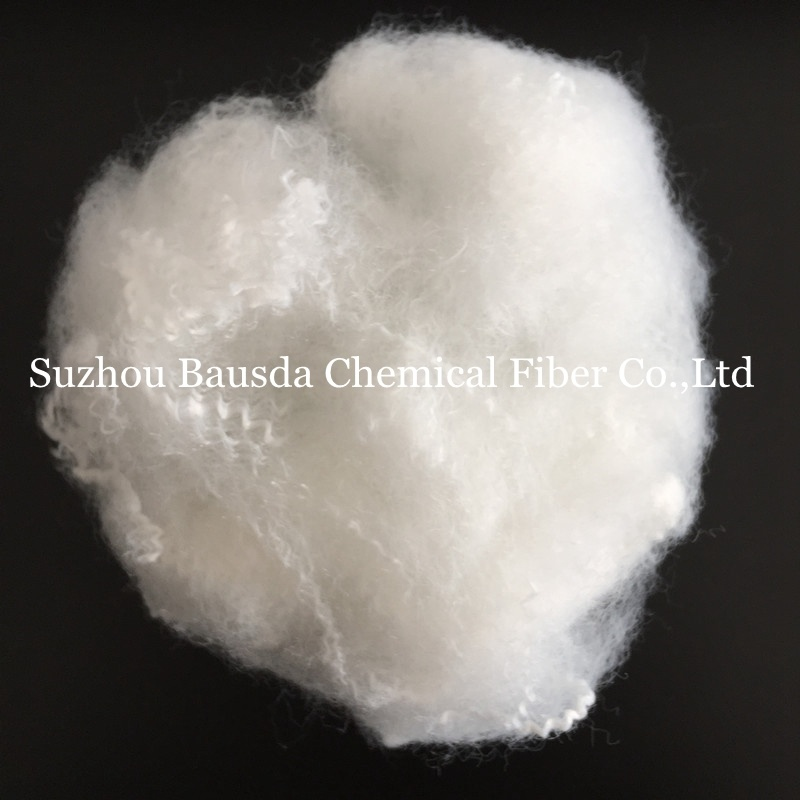 Raw White Solid Polyester Staple Fiber for Non-Woven Fabric Use