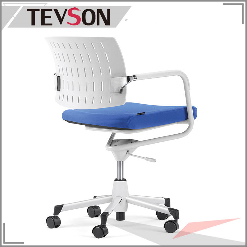 Simple Style Plastic Low Back Office Staff Chair