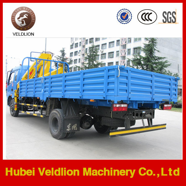 Mini 4 Tons Cargo Truck with 3.2 Tons Crane
