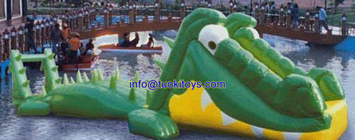 Colorful Inflatable Water Game of Crocodiles Products