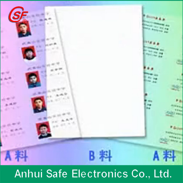 Instant PVC Card 200*300mm 0.76mm Thickness (0.15+0.46+0.15)