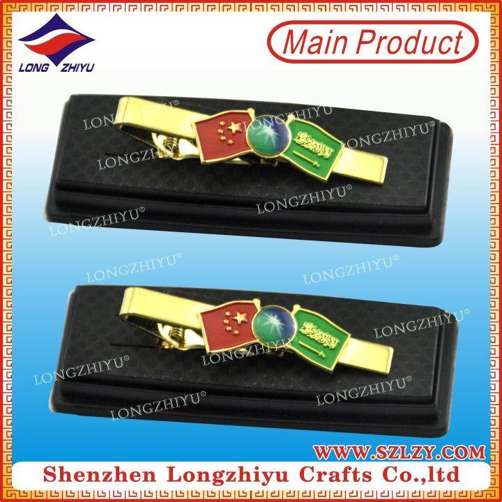 Nation Flag Peace Tie Clips Gift Box Commemorative Tie Clip