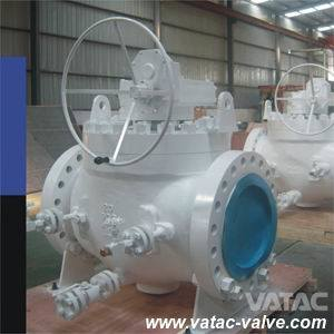 Cast & Forged Stainless Steel Industrial Mounted Trunnion Ball Valve with Flange RF or Bw Ends