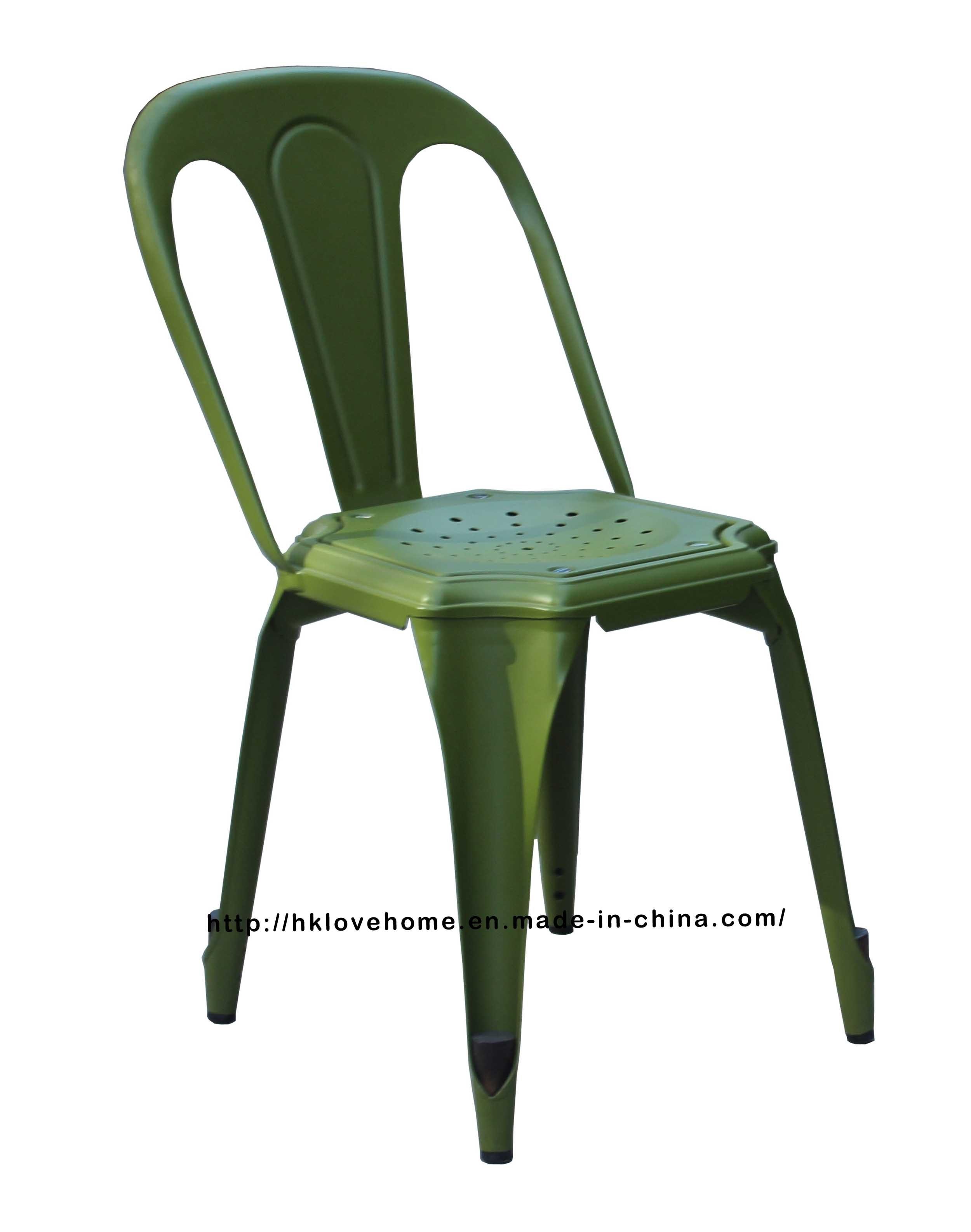 Industrial Tolix Vintage Armand Restaurant Metal Chair