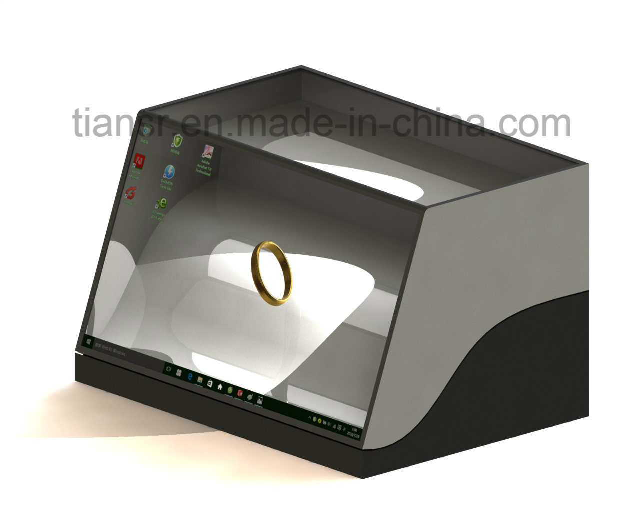 22 Inch Transparent Display Stand with The Counter Design