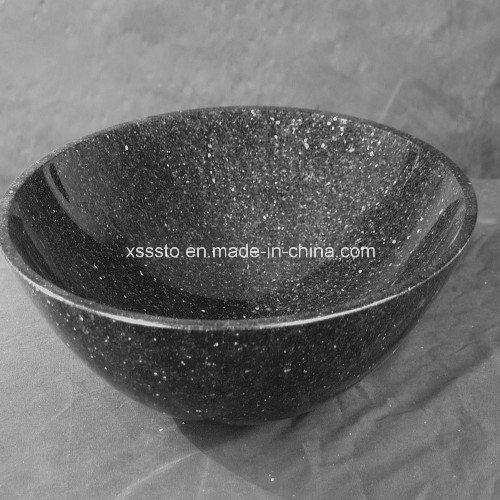 Grade a Black Galaxy Granite Bathroom Basin, Bathroom Sink