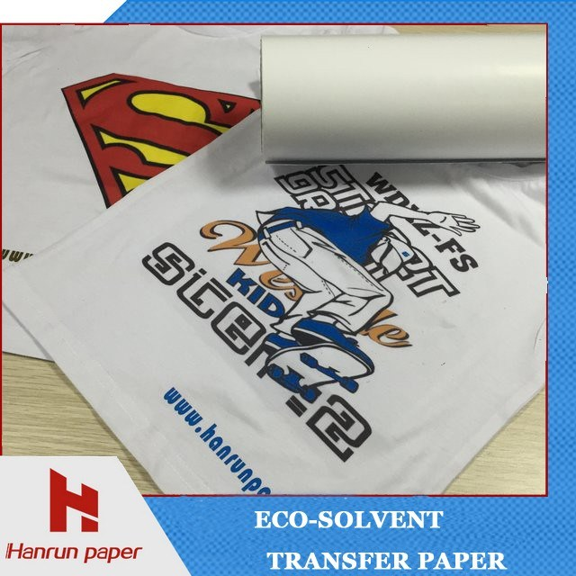 Printable Dark/Light Eco Solvent Heat Transfer Paper for Cotton