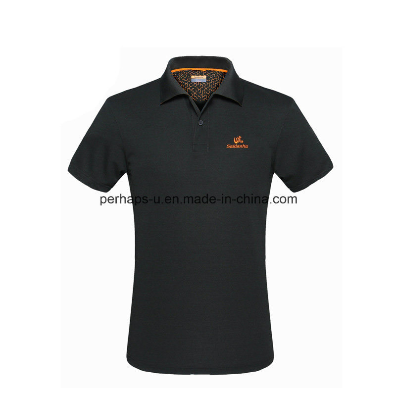 New Design Skinny Embroidered Men Polo Shirt Sports Clothes