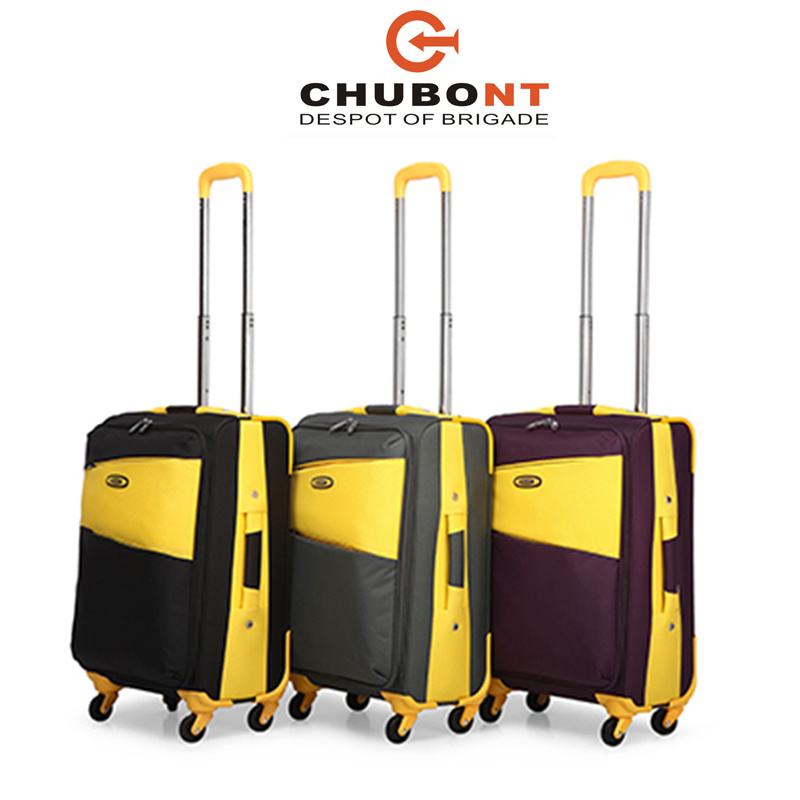 Chubont Hot Sell 4 Wheels Mixed Color Built-in Trolley Case