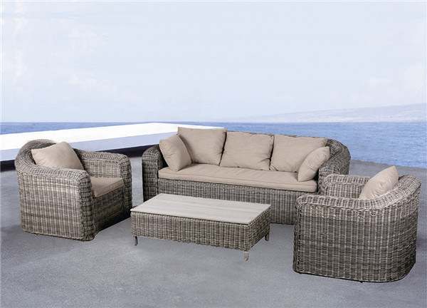 Hotsale Outdoor Patio Wicker Rattan Garden Sofa