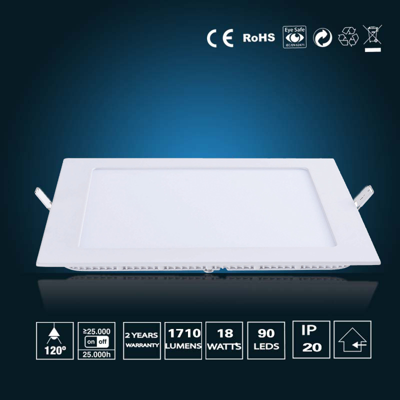 18W LED Panel Light 220*220*16mm