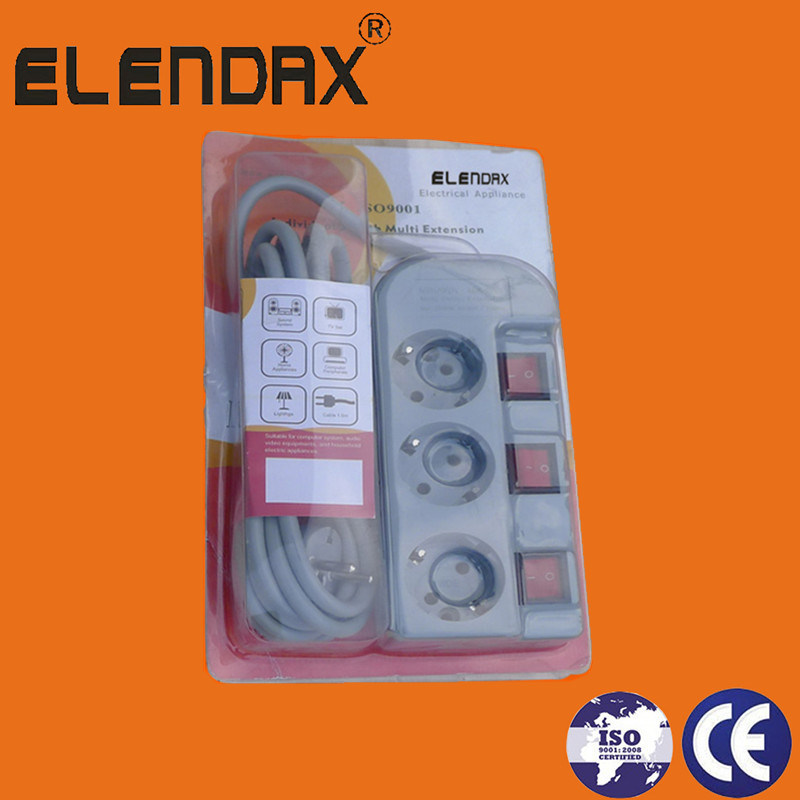 European Style 3 Way Individual Switch Power Cord (E6003EIS)