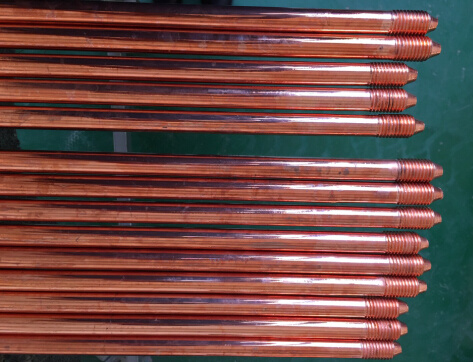 Copper-Bonded Steel Ground Rod Threaded or Pointed