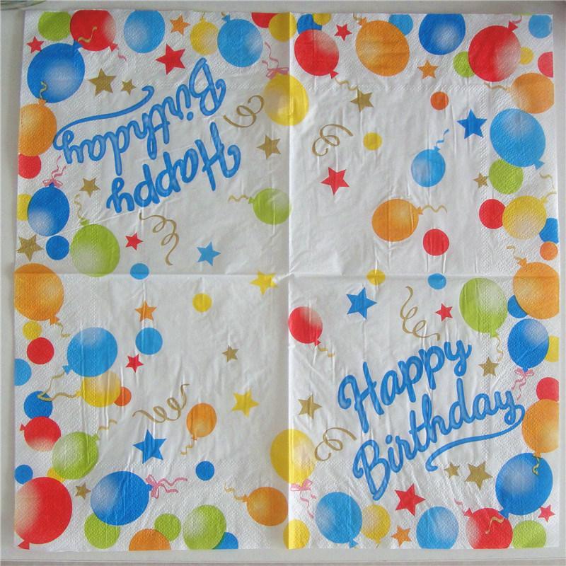 Wholesales Wedding Birthday Party Paper Napkin with Customized Logo