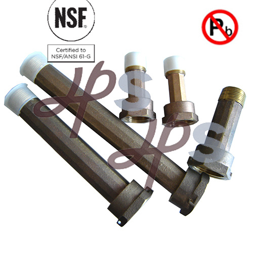 NSF61 Approved NPT Thread Free Lead Meter Coupling (H938)