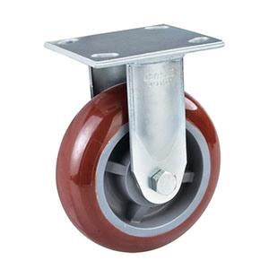 6 Inch Heavy Duty Rigid Caster with Polyurethane Wheel PU Wheel Castor