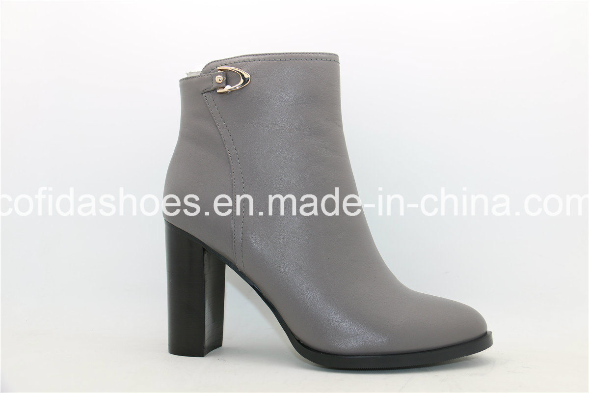 Comfort Classic High Heel Women Leather Winter Boots