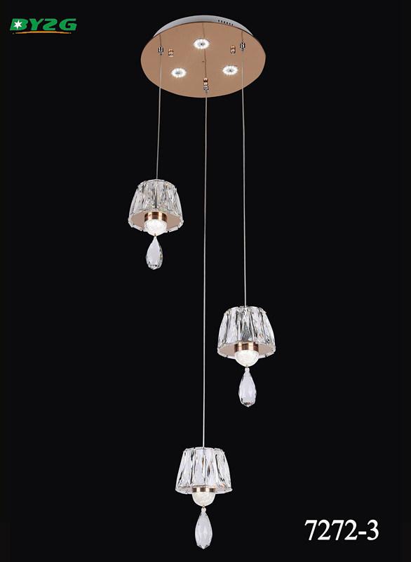 Modern Hotel Decorative Crystal Chandelier/Pendant Lampbyzg 7272-3