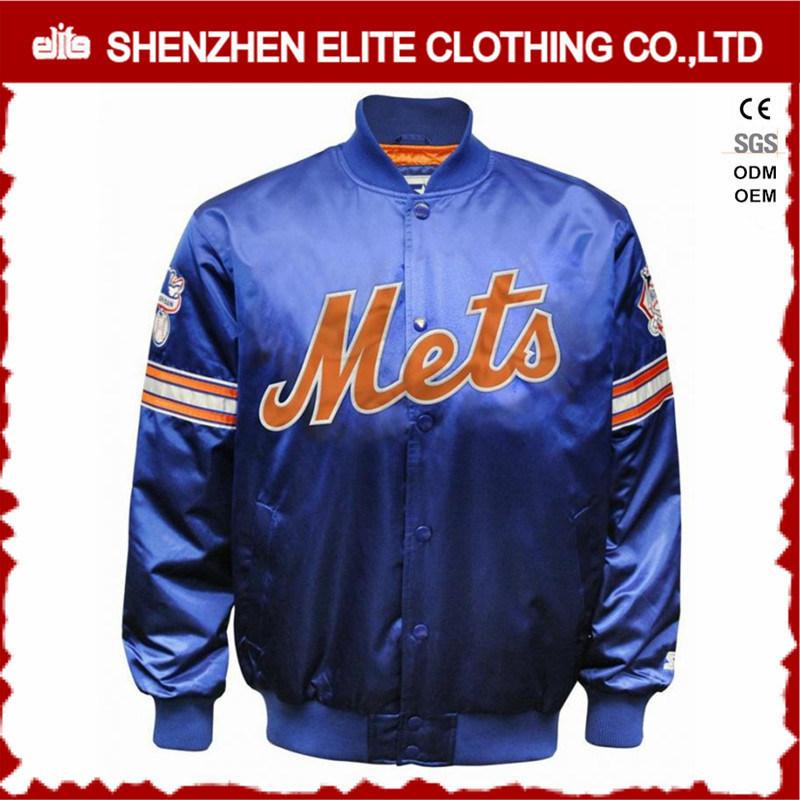 Custom 100% Polyester Satin Baseball Bomber Jacket Womens